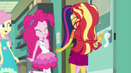 Twilight, Pinkie, and Fluttershy leaving the room EGFF