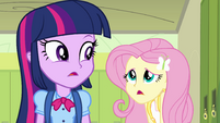 """Fluttershy """"did you just transfer to Canterlot High"""" EG"""
