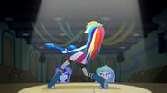 Rainbow Dash on stage EG2