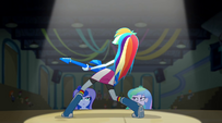 Rainbow Dash on stage EG2