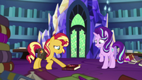 Sunset Shimmer trying to pick up her journal EGS3