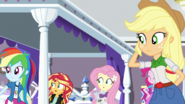 Rest of Mane Seven watch Twilight and Rarity leave EGS1