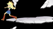 Applejack leaping over to her friends EGS3