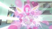 Pinkie makes a magic burst of balloons EG3
