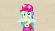 Rainbow Dash holding a volleyball EGFF
