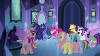 Luna speaking in the mirror room EG