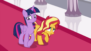 Twilight and Sunset both looking nervous EGFF