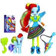 Rainbow Rocks Rainbow Dash Doll and Pony Set