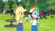 EG4 Rainbow i Applejack dostają akwamarynowy namiot