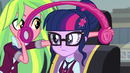 Lemon Zest about to put her headphones on Sci-Twi EG3