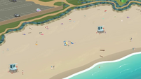 Wide view of the Canterlot beach EGDS14