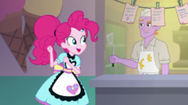 Pinkie Pie dancing next to the diner chef SS15