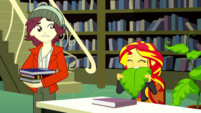 Sunset Shimmer looking embarrassed SS14