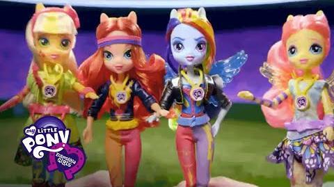 "MLP Equestria Girls Danmark - ""Venskab Spil Sporty Stil Deluxe Dolls"" T.V. Kommerciel"
