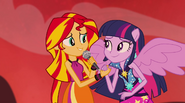 Sunset and Twilight smiling at each other EG2