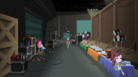 Craft services area in the movie studio EGS2