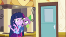 Twilight surprised by Celestia closing her door EG