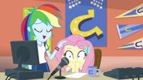 Rainbow patting Fluttershy on the head CYOE2a