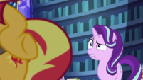 Starlight Glimmer looks disturbed at Sunset EGS3