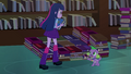 Twilight and Spike bed of books EG.png