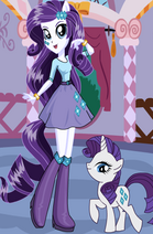 FANMADE EqG Rarity with pony counterpart