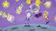 EGS1 Wizja Pinkie dziewczyny latają w stanie nieważkości
