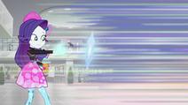 Rarity launches diamond shield toward Rainbow Dash SS16