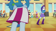 Rainbow Dash and Rarity dancing in cafeteria EG
