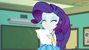 Rarity smiling at the yearbook photos EGFF