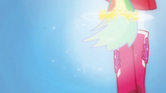 Rainbow Dash's hair grows into a ponytail EG