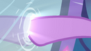 Twilight putting her hoof into the mirror EG