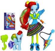 Lalka Rainbow Rocks z kucykiem - Rainbow Dash z instrumentem