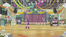 Twilight and Spike enter the gym EG