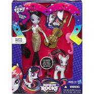 Rainbow Rocks Octavia Melody Doll and Pony Set packaging