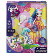 Equestria Girls Celestia Doll and Pony Set packaging