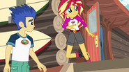 Sunset Shimmer about to crash into Flash Sentry EG4