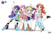 Equestria Girls illustration re-design 2 by RitaLux