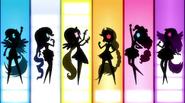 Row of Mane Six silhouettes EG2