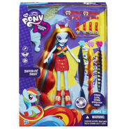Equestria Girls Rainbow Dash hairstyling doll packaging