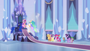 Main 6 and princesses in throne room EG