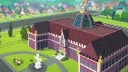 Fade-in shot of Canterlot High School EG3