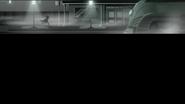 EG MF Podejrzany biegnie przez ponure miasto