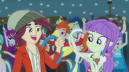 Canterlot High students with pony ears and tails EG2