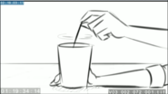 EG3 animatic - Sunset stirring her drink