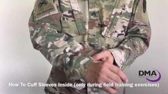 Soldiers! Learn how to cuff your sleeves on Army Combat Uniform (ACU)