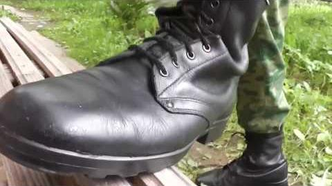 Russian soldier's boots