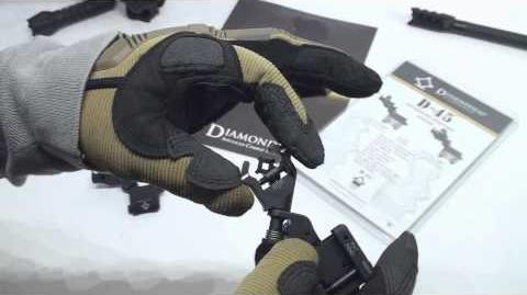 Diamondhead D-45 Flip up Sights