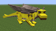 Brown dragon gold armor