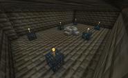 Black temple interior