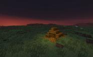 Brown temple plains